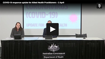 COVID-19 response update for Allied Health Practitioners