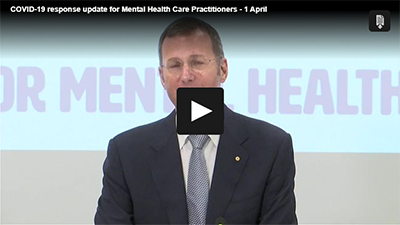 COVID-19 response update for Mental Health Care Practitioners