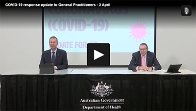 COVID-19 response update to GPs