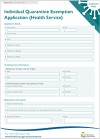 Tas Gov COVID19 Individual Quarantine Exemption Application Health Service Form V1