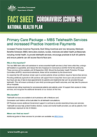 COVID-19 National Health Plan – Primary Care Package